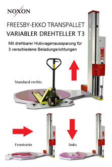 Stretchwickler T3 Drehteller 3 in 1